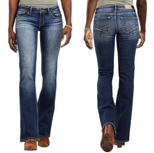 BKE Mid-Rise Slim Fit Stretch Jeans 27 x 37 1/2